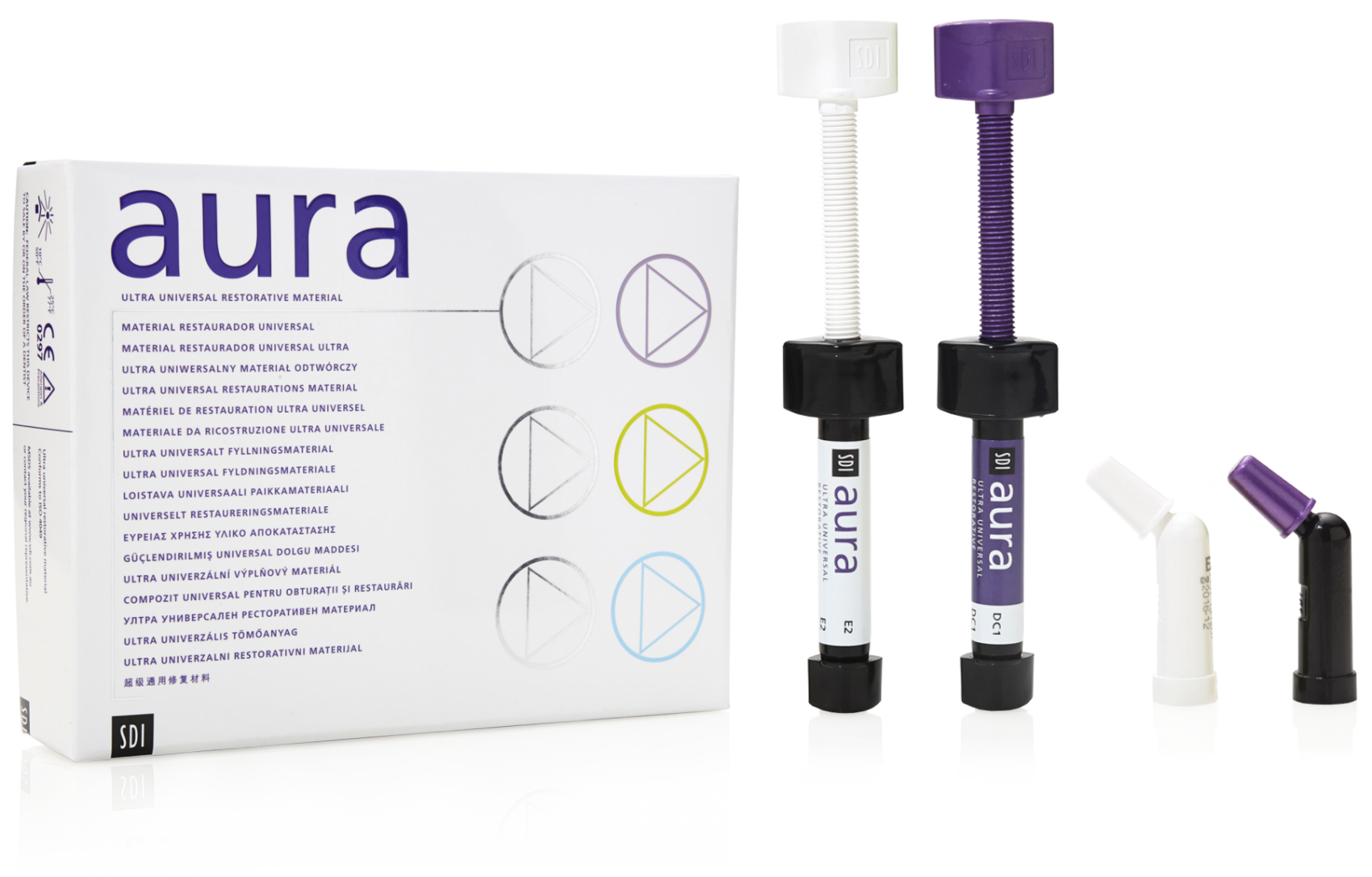 aura box and syringes